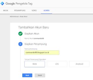 Akun Baru Google Tag Manager