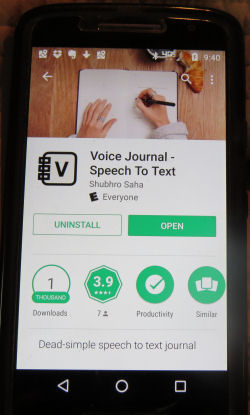 Voice Journal app for Android