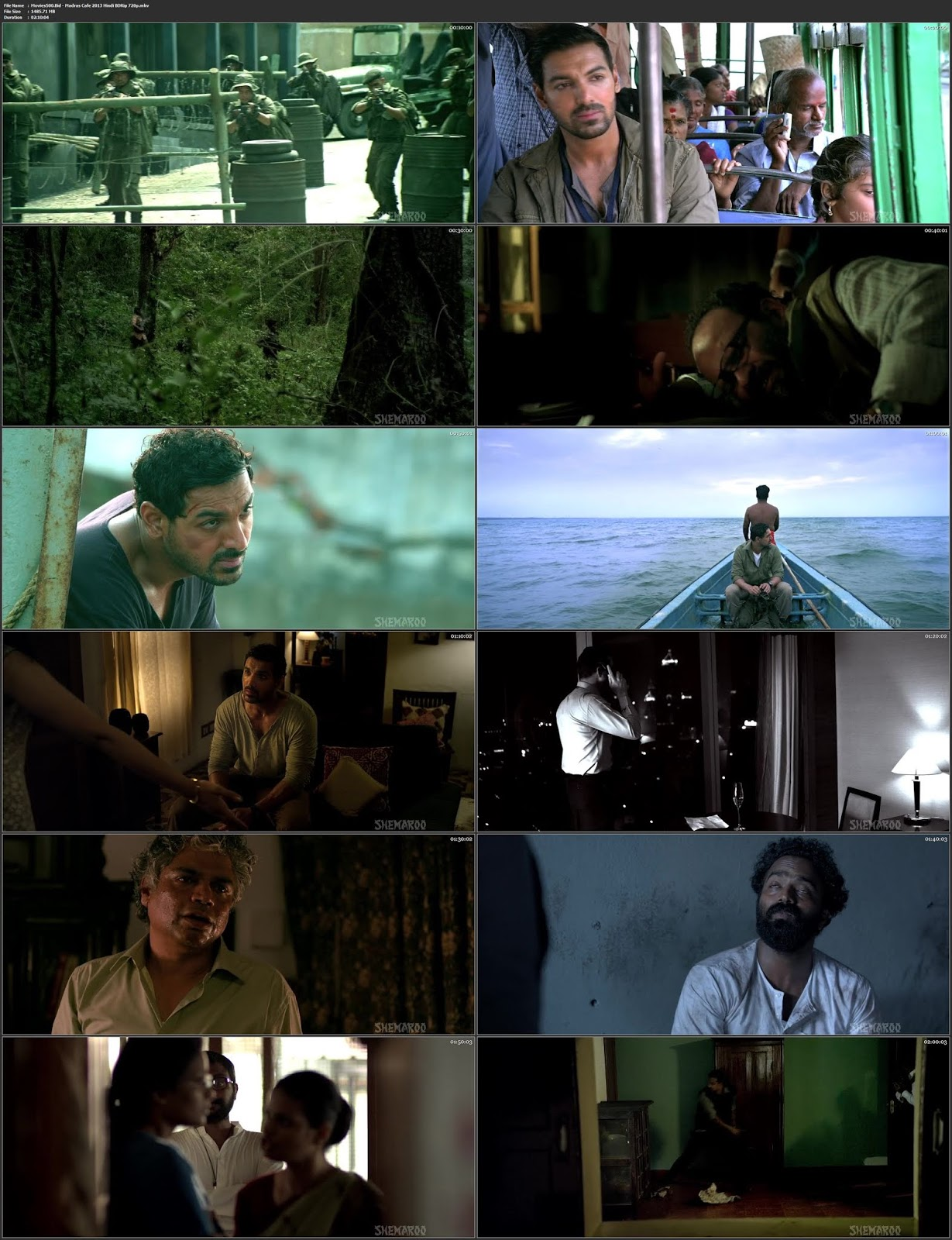 Madras Cafe 2013 Bollywood 300MB Hindi BluRay 480p