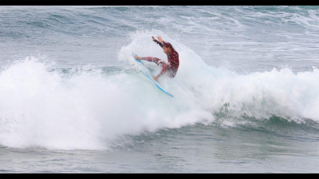 Surfing Zarautz 14 4 2017
