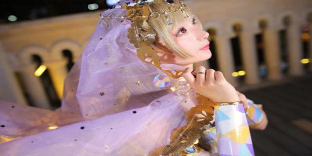 Foto Haoge Membawakan Cosplay Kotori Minami versi Arabian Dancer seksi hot terbaik