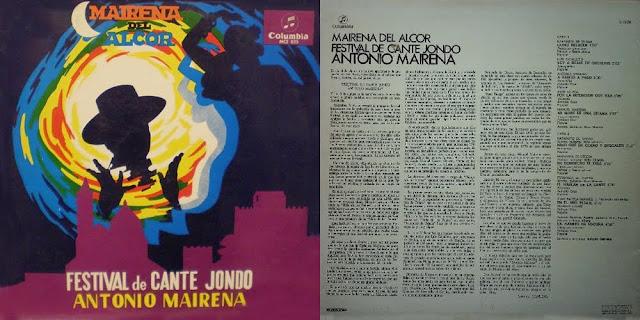 """JUAN TALEGA """"MAIRENA DEL ALCOR-FESTIVAL DE CANTE JONDO ANTONIO MAIRENA"""" (LP) COLUMBIA 1967"""