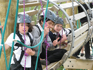 Children on the High Ropes Course