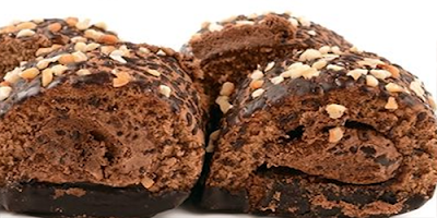Rollo de chocolate confitado con Nueces