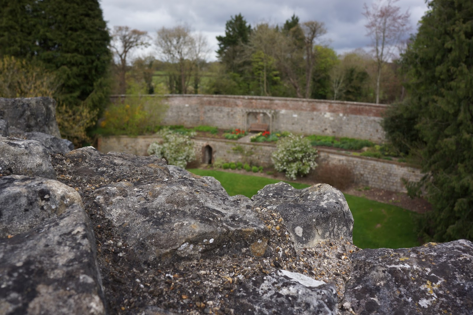 farnham castle surrey view of garden from castle