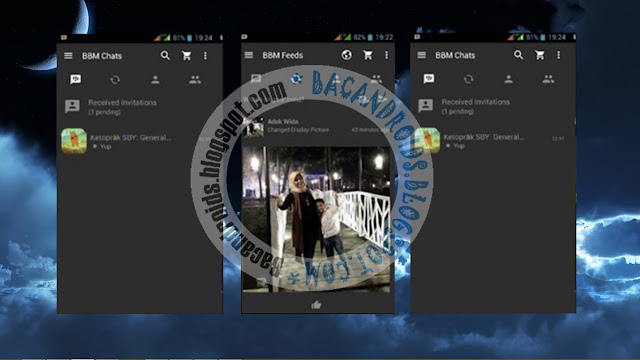 download BBM Mod Dark Grey Versi 2.13.1.14 Apk New