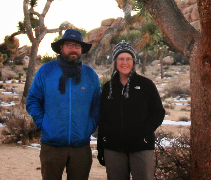 Joshua Tree National Forest, California, with son Chad and daughter Thuan--2015