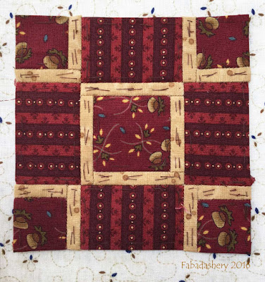 Dear Jane Quilt - Block L4 St George's Cross