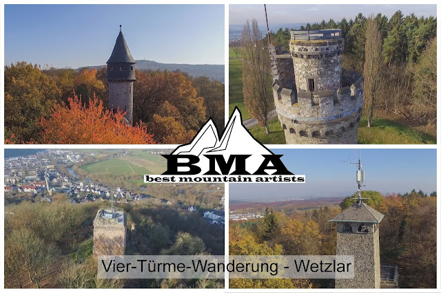 4 Türme Wanderung Wetzlar Vier Tuerme Wanderung Wetzlar Mittelhessen wandern in Hessen Premiumweg Outdoor Blog Wanderwelt Hessen - Best Mountain Artists - BMA