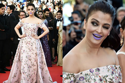 Of Aishwarya and her Hypothermic Lavender Lips, in Rami Kadi: Cannes 2016