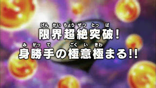 Dragon Ball Super Episode 129 Title