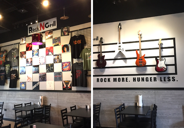 Rock N Grill provides a bit of rock n roll nostalgia while dining