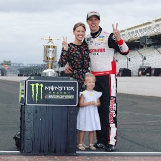 Brad Keselowski and family at the Bricks - #NASCAR