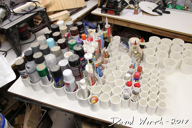 testing all paint cans, pvc, easy, attach