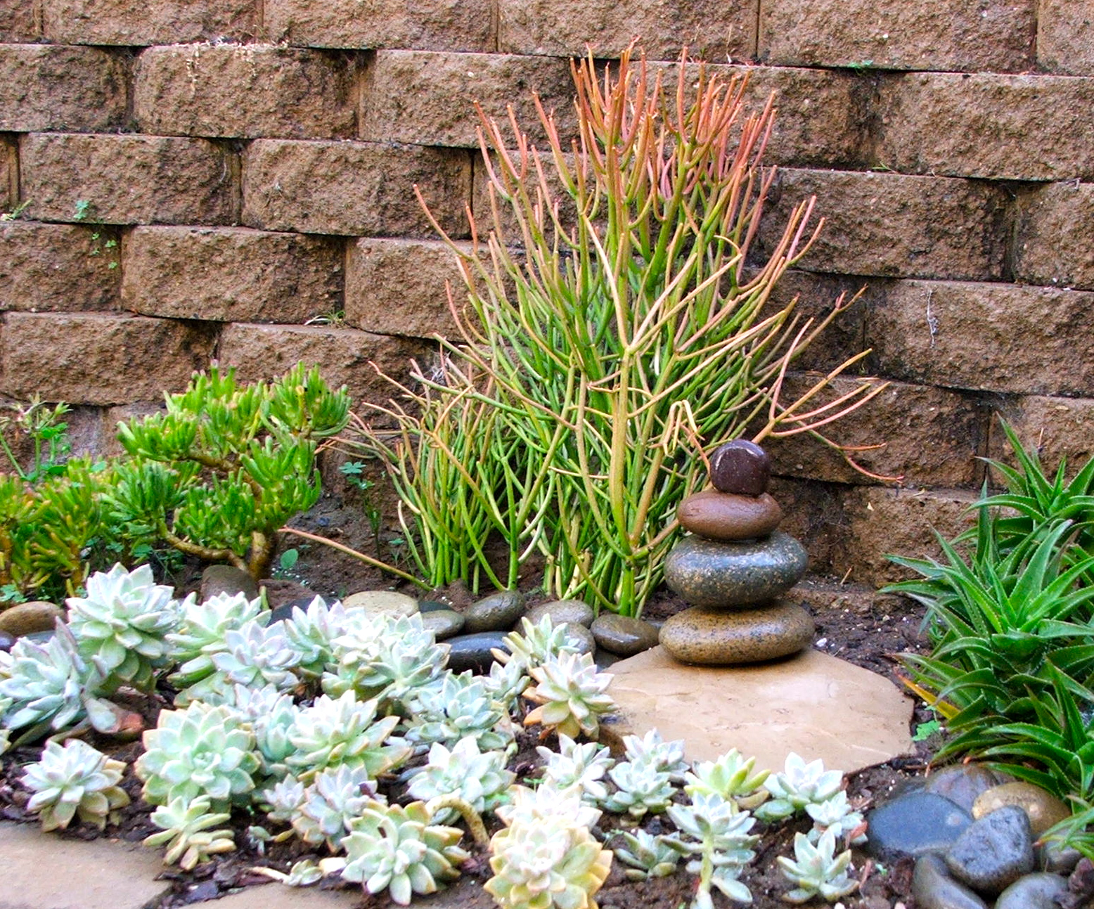 Garden and Bliss: Rock Stacking on Backyard Rock  id=37057