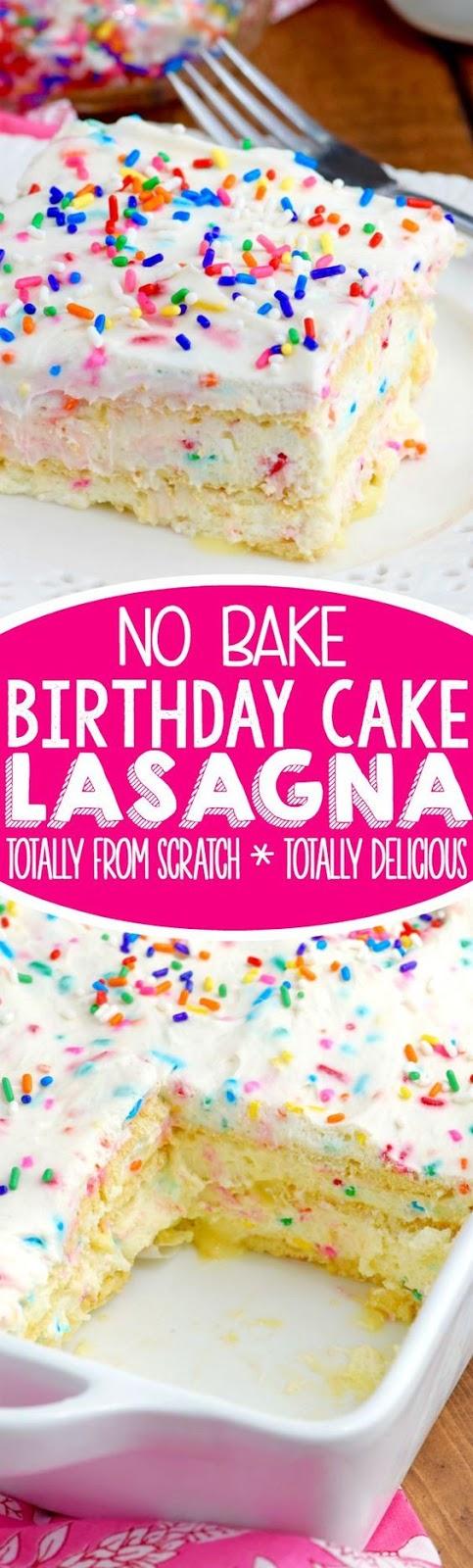 No Bake Birthday Cake Recipes