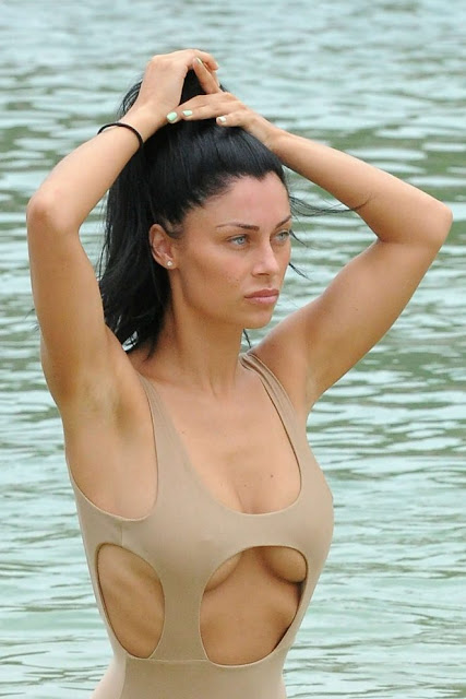 Cally Jane Beech in Swimsuit in Ibiza