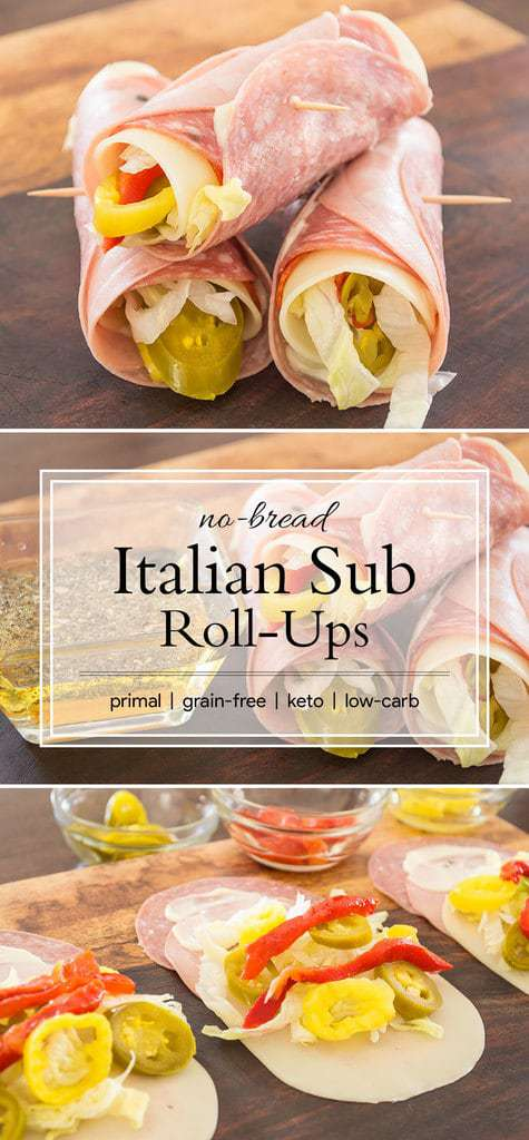 Italian Sub Roll Ups {grain-free; low-carb; keto}