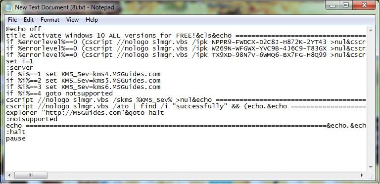 activation windows 10 pro product key free