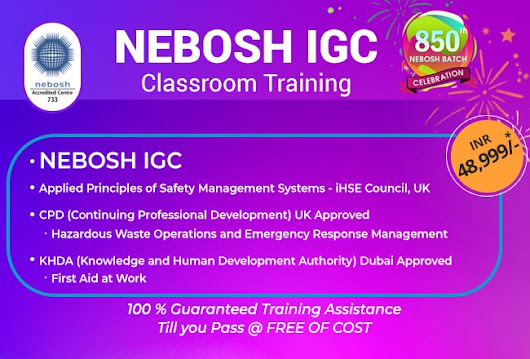 Why Choose Nebosh Safety Course in Kolkata