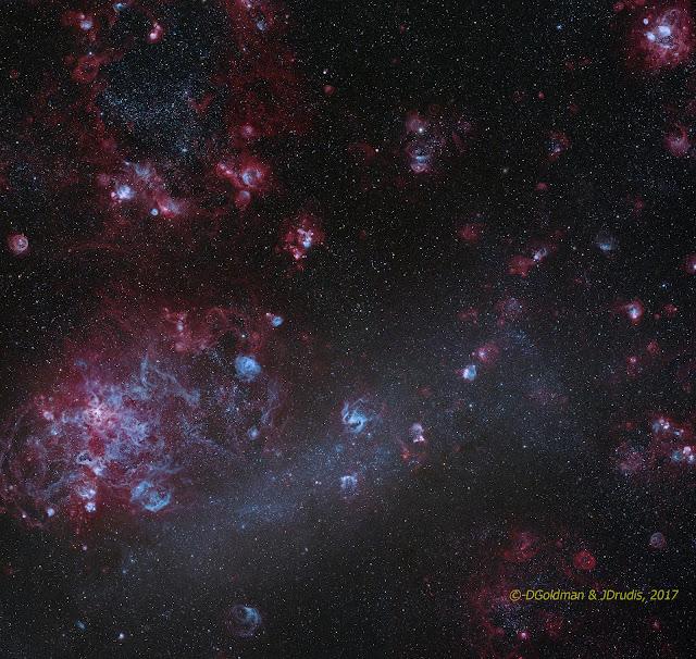 Những đám mây nhỏ trong Đám mây Magellan Lớn. Hình ảnh: Josep Drudis, Don Goldman.