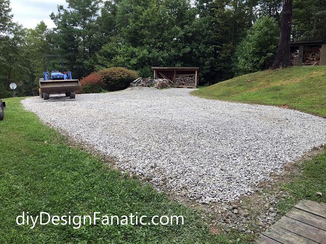 mountain cottage, cottage, farmhouse, driveway maintenance, gravel driveway, steep gravel driveway, diy, diyDesignFanatic.com