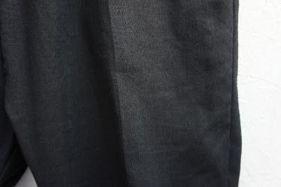 PUBLIC IMAGE [ サルエルパンツ ] BLACK P1-P2K-N02 ももアップ