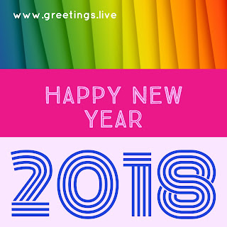 Multiple colors pink blue main theme new year