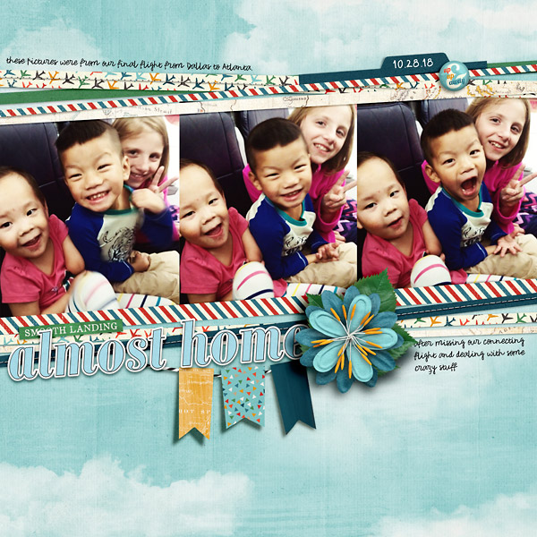 In Flight Scrapbook Page