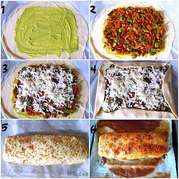 como hacer un rollo de pan con masa de pizza