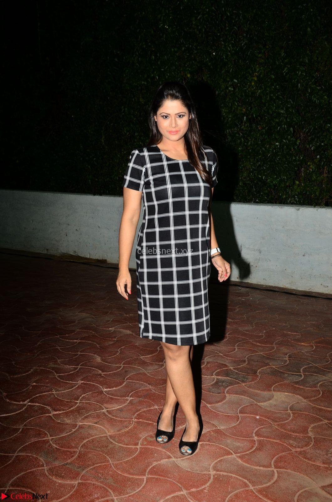 Shilpa Chakravarthy in Dark blue short tight dress At Srivalli Movie Pre Release Event