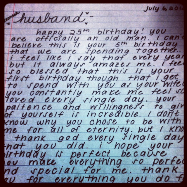 happy birthday, husband! | the newlywed's to-do list