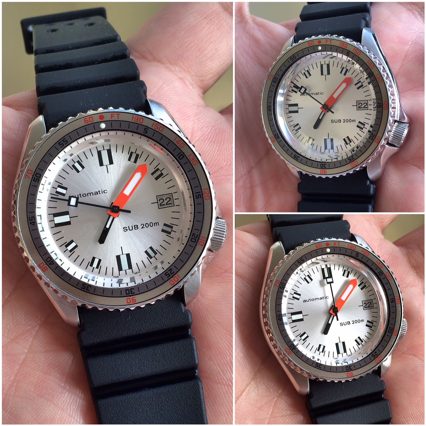 Watch The WATCHES: [SOLD] Seiko SOXA Silver Dome Floating Dial, All