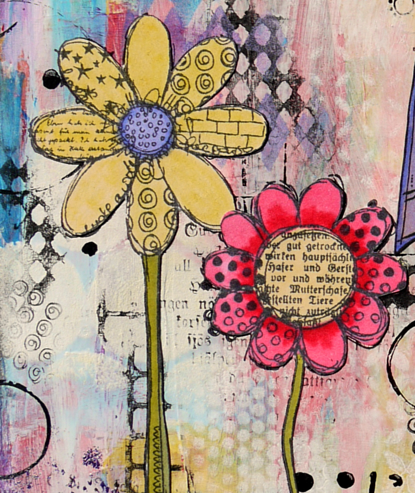 Rubber Dance Blog Textured Flowers Startrish Design Canvas