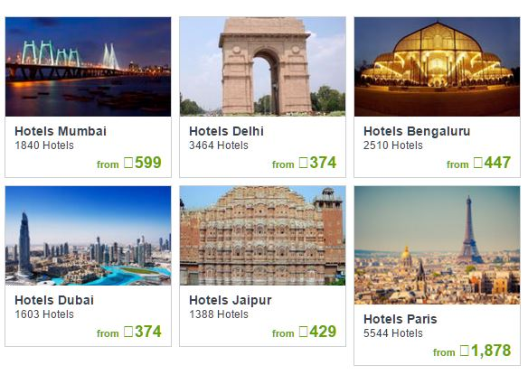 online hotel booking sites in India