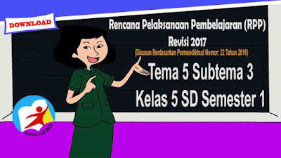 RPP Tematik Kelas 5 SD Tema 5 Subtema 3 Kurikulum 2013 Revisi 2017