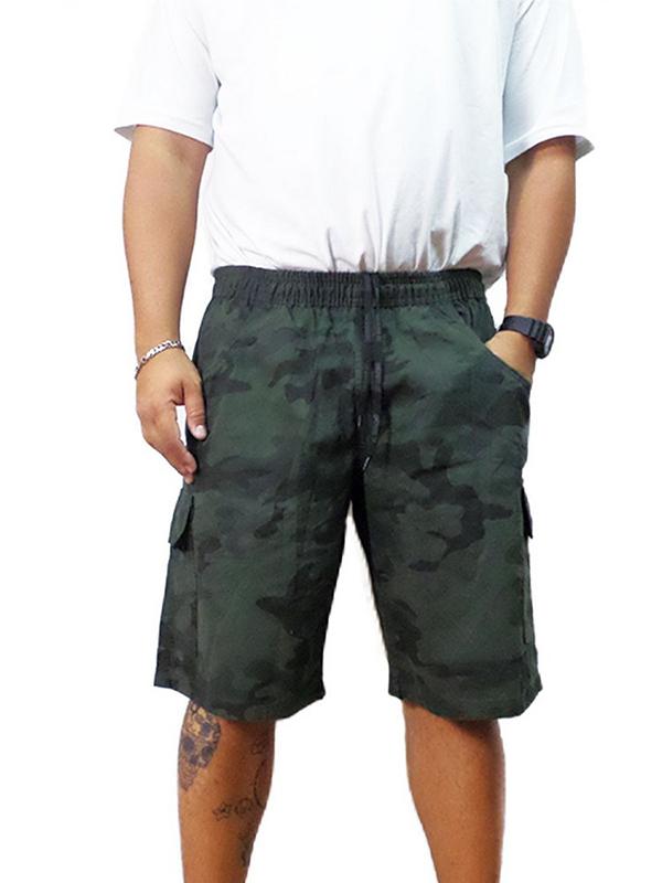 29db9abb8 Bermuda Masculina Plus Size Camuflada Cós Elástico Oncross desenvolvida em  algodão. Modelagem contempla barra reta