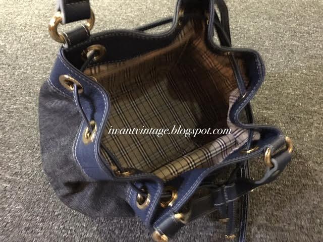 7f8b35a933b5 Burberry Blue Label Denim Leather Bucket Bag