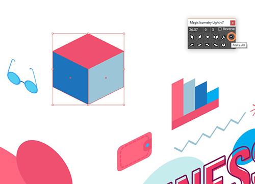Делаем постер с типографикой в стиле изометрии