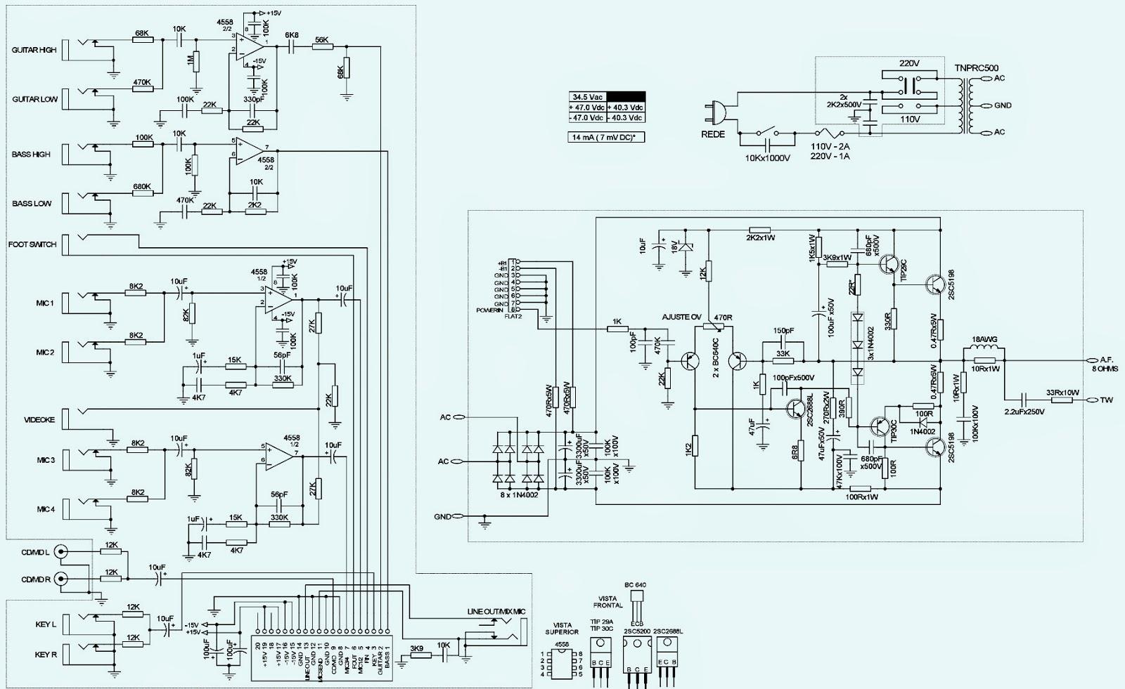 caixa ciclotron nprc 500 schematic diagram guitar. Black Bedroom Furniture Sets. Home Design Ideas