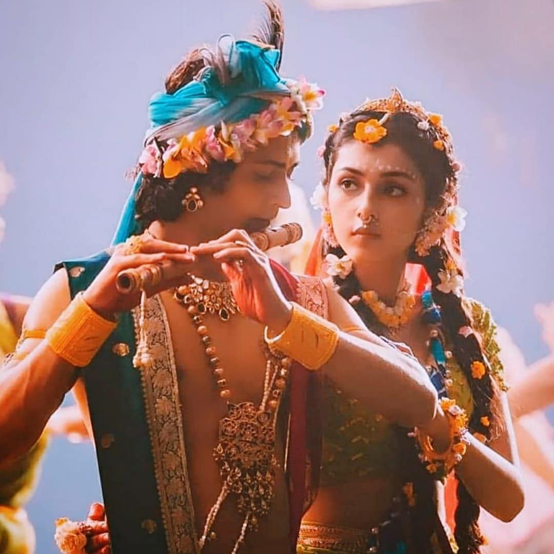 IND 彡Radha Krishna Quote彡 - हे अर्जुन, हम दोनों ने कई जन्म लिए है,