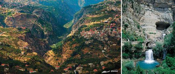 وادي قاديشا: لوحة أسطورية من لبنان valley-Kadisha-Leban