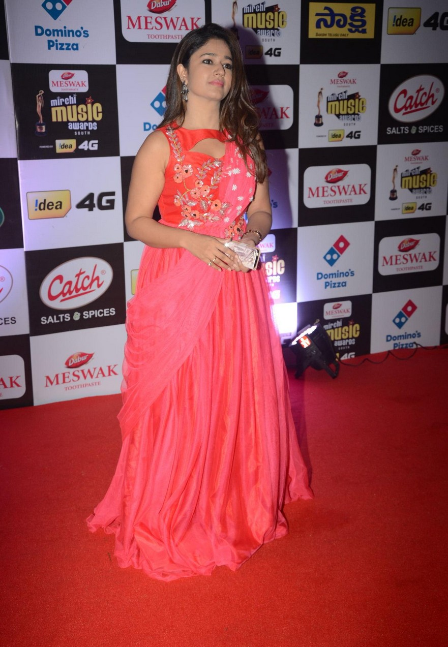 Poonam Bajwa Hot Stills At Mirchi Music Awards In Pink Dress