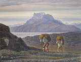 Woman's Work. South Greenland by Rockwell Kent - Landscape Painting from Hermitage Museum