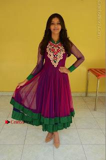 Actress Pooja Jhaveri Latest Stills in Purple Salwar Kameezt at Dwaraka Success Meet  0237.JPG