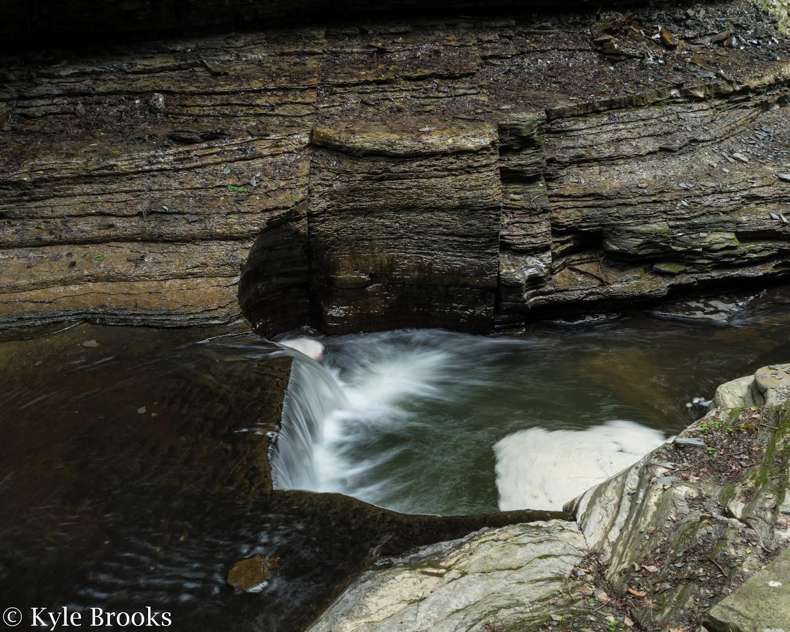 Waterfall Formation Watkins Glen New York