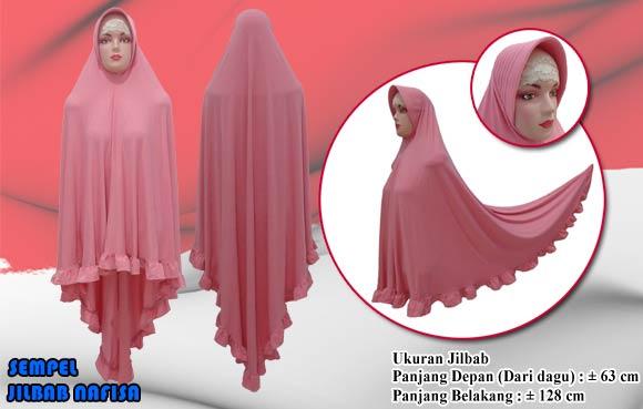 Jilbab Syar I Jumbo Bahan Jersey Panjang Belakang 128 Cm