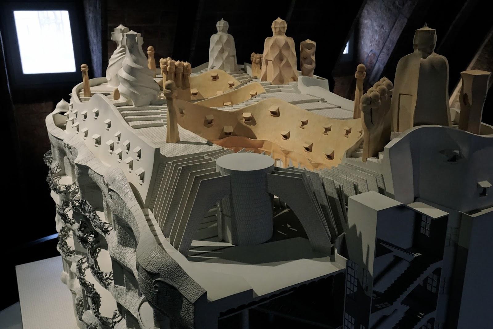 カサ・ミラ(Casa Milà)の模型