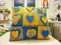 Be still my beating heart cushion - quick tutorial