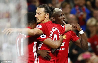 Sensational Zlatan Ibrahimovic and Paul Pogba dazzle as Man U thrash Southampton 2-0 (Match analysis/Photos)